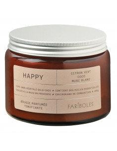 Bougie parfumée Happy 400gr 3 mèches Fariboles