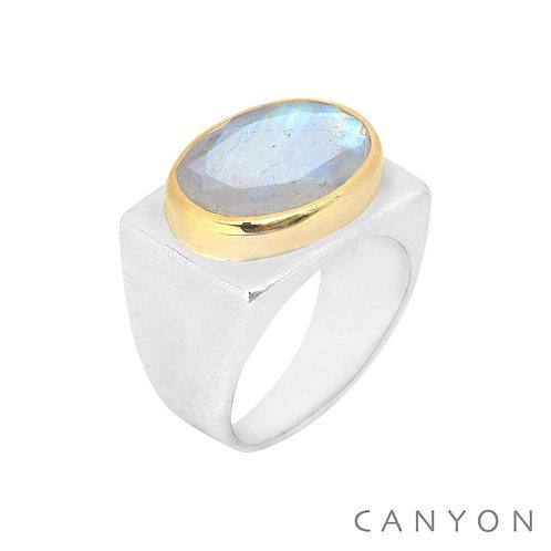 Bague pierre de lune Canyon