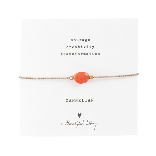 "Bracelet cordon ""Cornaline"" gold A Beautiful Story"