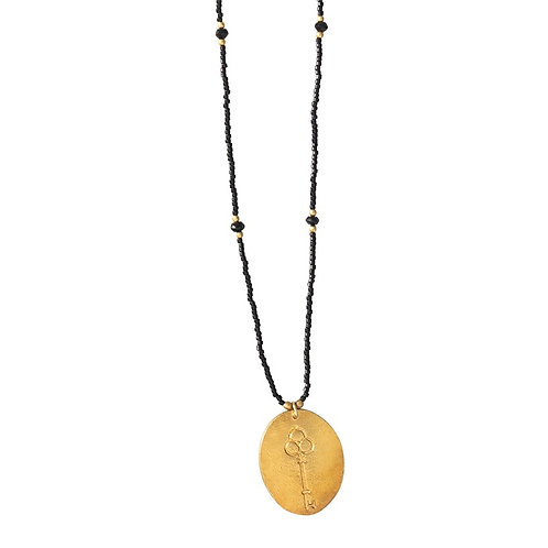 Collier A Beautiful Story Swing Black Onyx gold