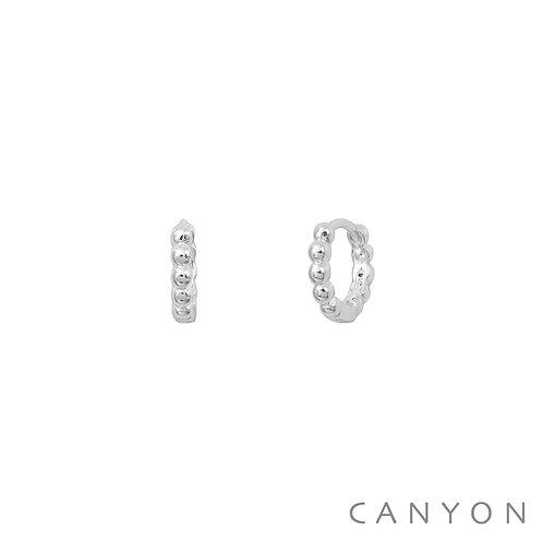 Boucles d'oreille argent mini-créoles boules Canyon