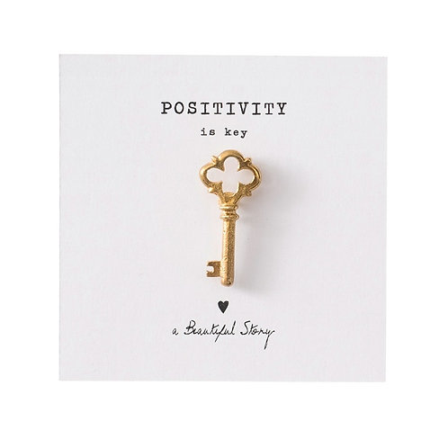 Broche A Beautiful Story Key gold