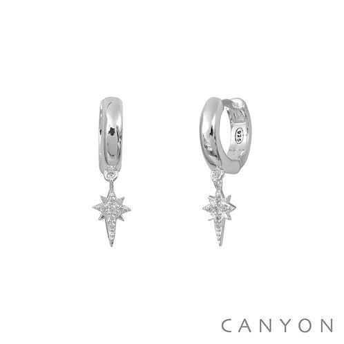 Boucles d'oreille mini-créoles étoiles Canyon