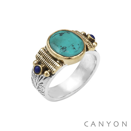 Bague argent turquoise Canyon