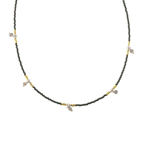Collier A Beautiful Story Cocoon labradorite silver