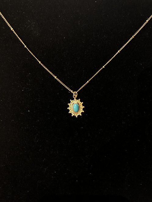 Collier Mila création paloma turquoise