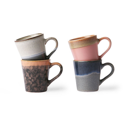 Tasses à café en céramique (lot de 4)