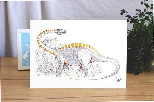 Affiche A4 (21x29,7) dinosaure Diplodocus Céline dessine n'importe quoi