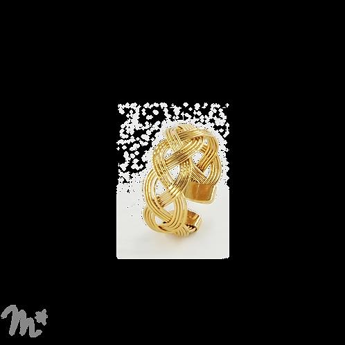 Bague tressée à l'or fin 24 carats Mila Création
