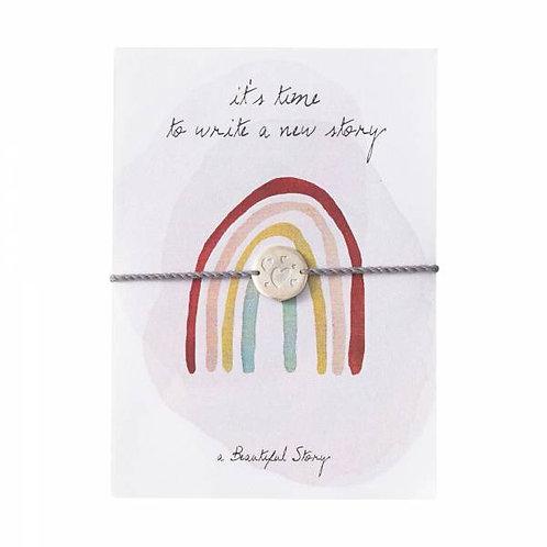 "Bracelet carte postale ""Arc en ciel"" A Beautiful Story"