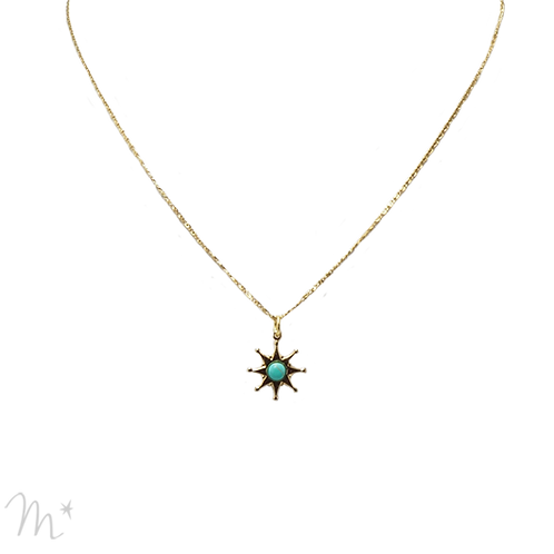 Collier Mila création star turquoise