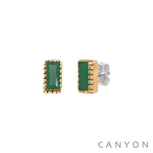 Boucles d'oreille calcédoine chrysoprase Canyon