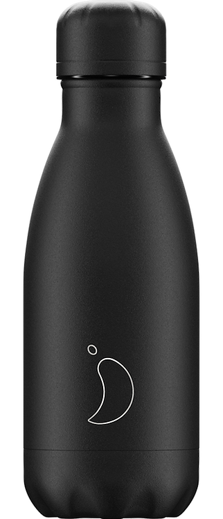 Bouteille Chilly's monochrome Allblack 260ml