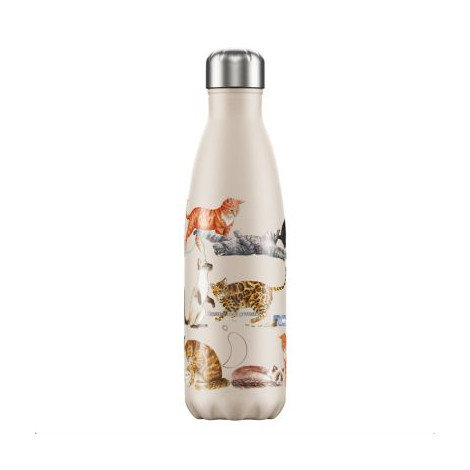 Bouteille Chilly's motif chats 500ml