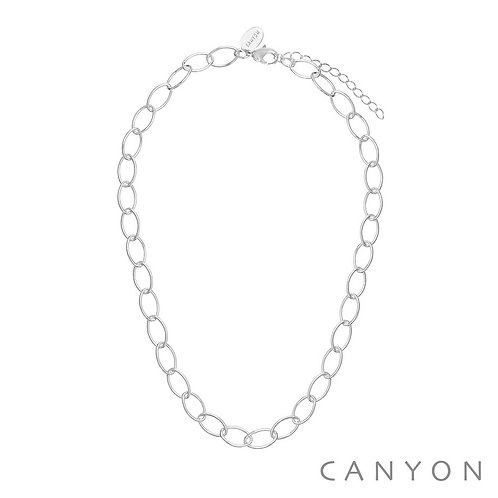 Collier argent chaine ovale Canyon
