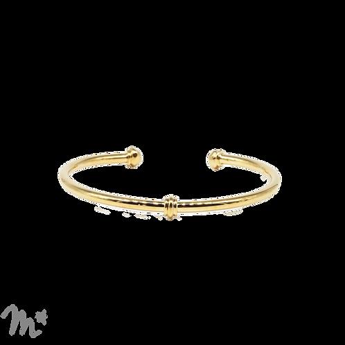 Bracelet Léonie doré à l'or fin 24 carats Mila Création