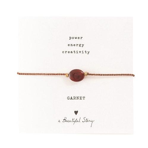 "Bracelet cordon ""Grenat"" gold A Beautiful Story"