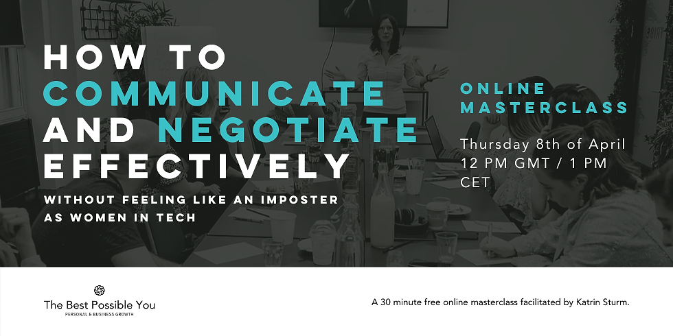 Communicate And Negotiate Effectively Without Feeling Like An Imposter