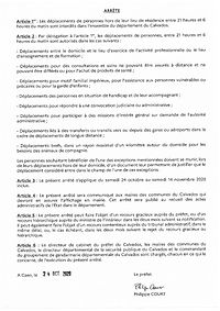 arrete 24 10 20 interdiction de sortie P