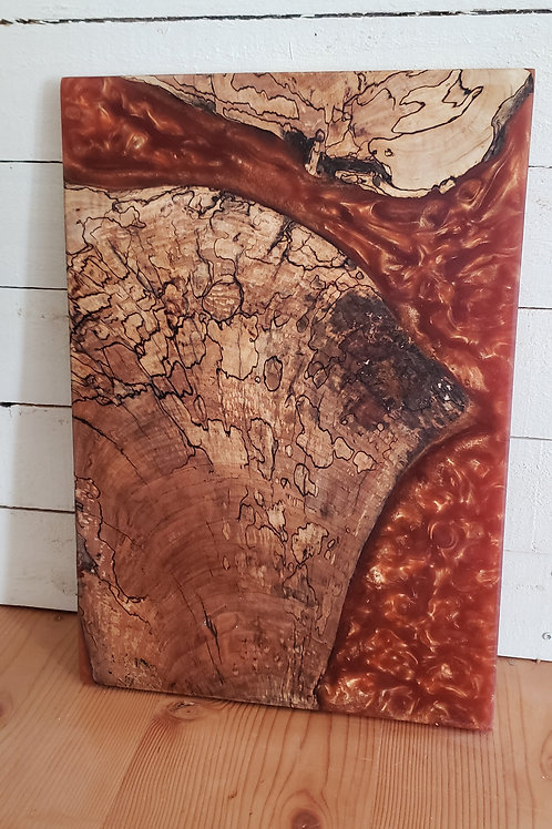 Spalted Maple with Copper Resin Serving Tray/Charcuterie Board