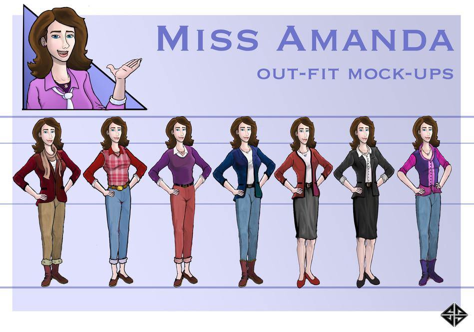 Miss Amanda Outfits