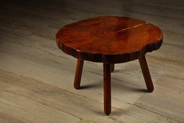 Live Edge Pine Slice Table
