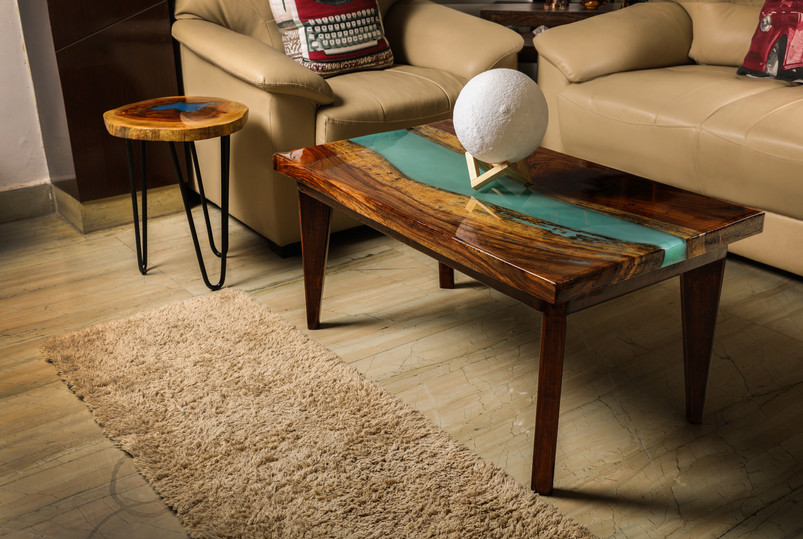 Aqua River Coffee Table