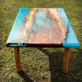 Cool Blue River Table