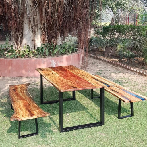 Neem and Resin Outdoor Picnic Table