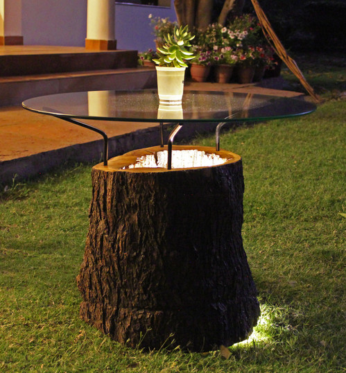 Wood Log Outdoor Table with lighting.jpg