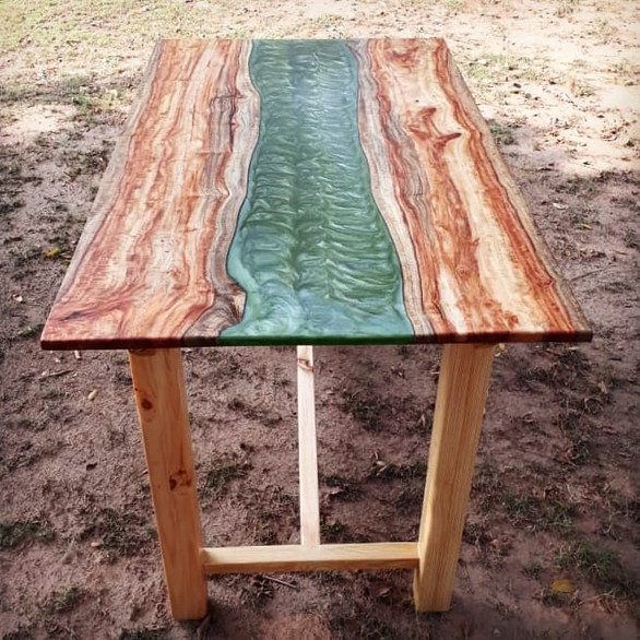 Mossy Green River Table