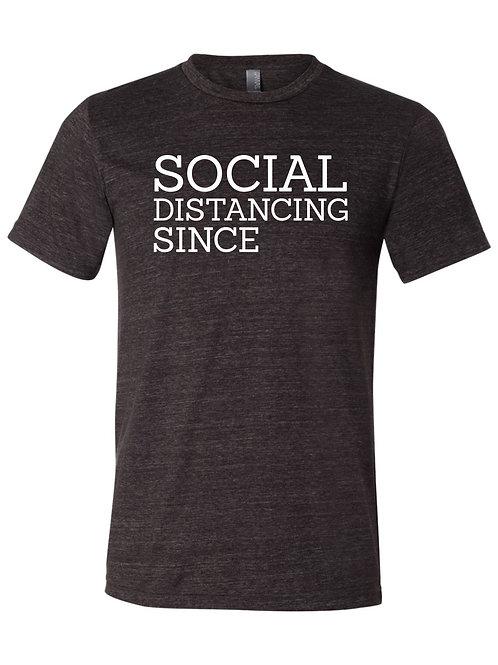 "Custom ""Social Distancing"" Tee - Charcoal"