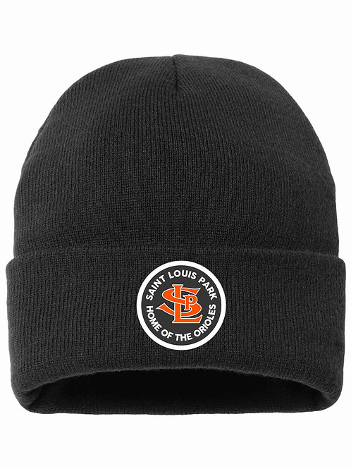 Sherpa-Lined Beanie with Patch