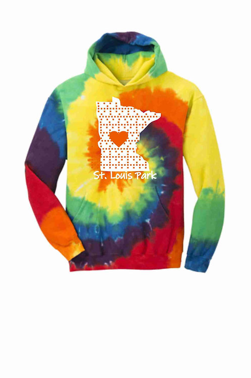 MN Love Tie-Dye Hoodie - Youth & Adult