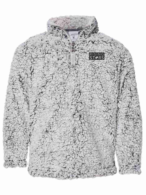 Youth Rising Stars Sherpa Pullover with Leather Patch