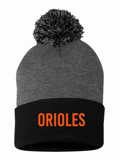 Orioles Two-Tone Pom Pom