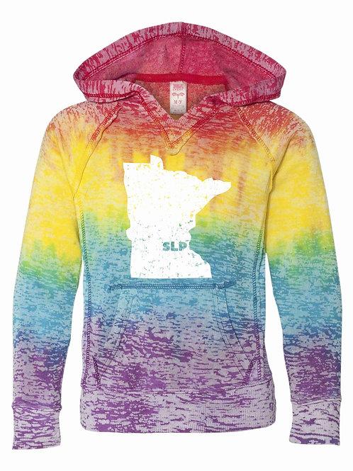 Girl's & Women's MN Rainbow Hoodie