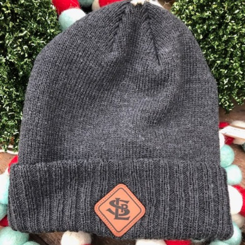 Ranger Knit Cuff Beanie with Leather Patch