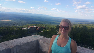Holley Hiking Mohonk Mountain, 7-2-2016.