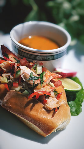 Hot Lobster Roll with Lobster Consomme