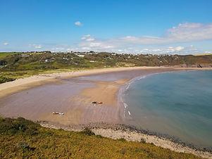 Freshwater East Beach in Pembrokeshire,