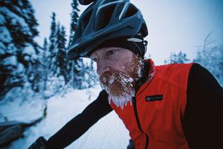 The ice beard I grew during the Rovaniemi 150, 2018