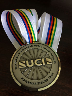 UCI World Championship Time Trial Silver medal from South Africa 2017. We missed the gold by 3 seconds after a mechanical off the start line
