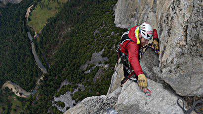 Climbing Zodiac in a push with Andy Kirkpatrick, 2013