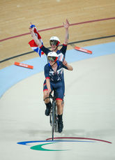 Waving to the crowd after winnin gour first gold medal Rio 2016