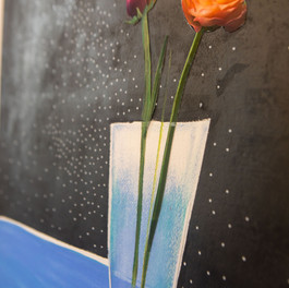 Close up flowers in space.