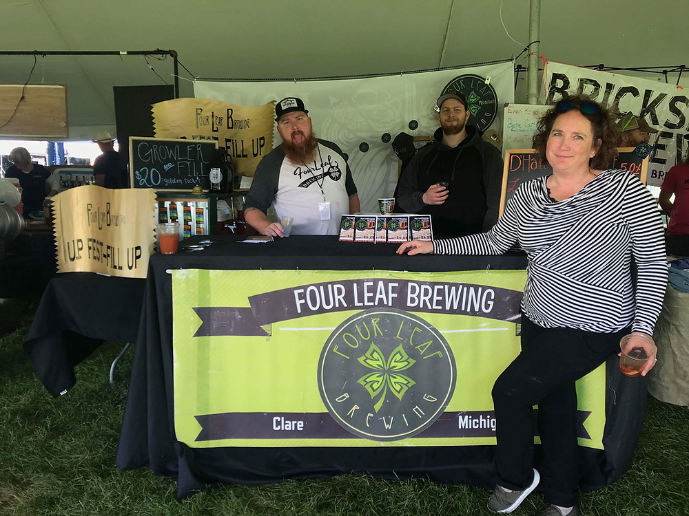 Repping Four Leaf at the UP Beer Fest in Marquette!