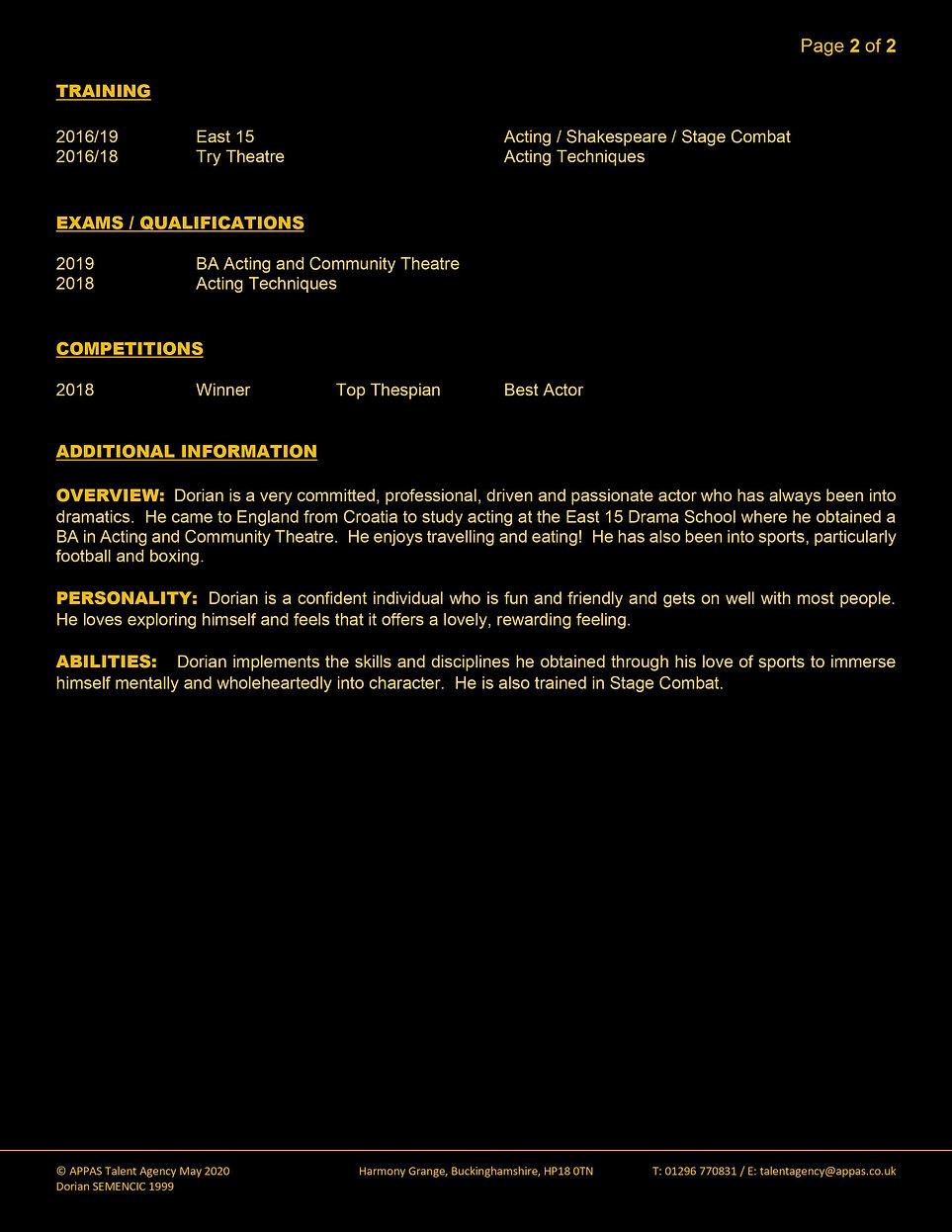 DORIAN SEMENCIC WEB CV (MAY 2020) 1 (2).