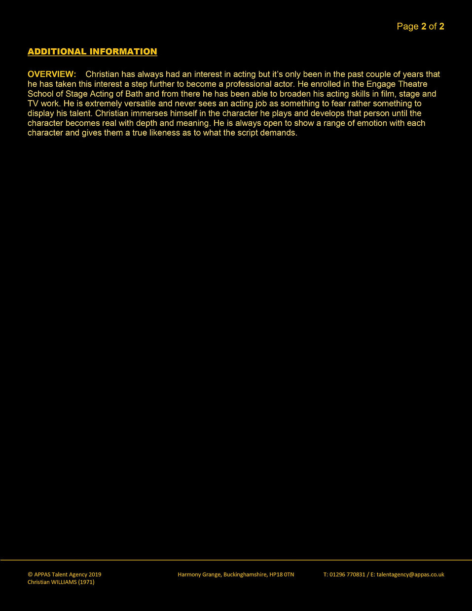 CHRISTIAN WILLIAMS WEB CV (MAY 2020) 2.j