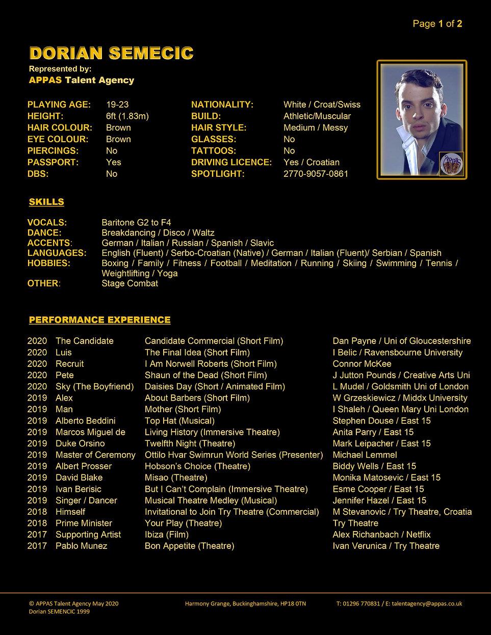 DORIAN SEMENCIC WEB CV (MAY 2020) 1 (1).